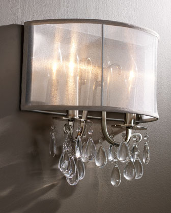 Wall Sconces Chandelier Crystal : Shaded Chandelier Sconce - Contemporary - Wall Sconces - by Horchow