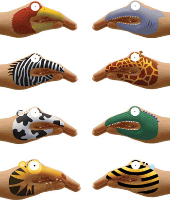 Animal Hands Temporary Tattoos for Talking Hands eclectic kids toys