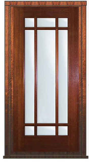 Pre hung patio single door 80 mahogany 9 lite marginal tdl for Single exterior patio door