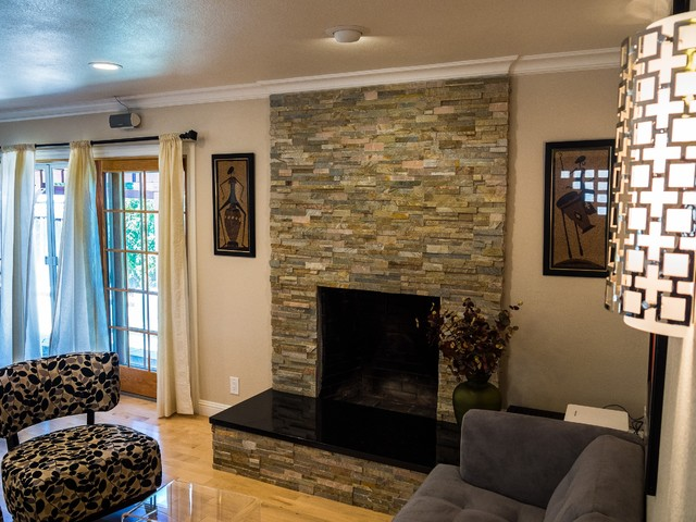 Entry, Kitchen, Dining, & Living Rm Remodel contemporary-living-room