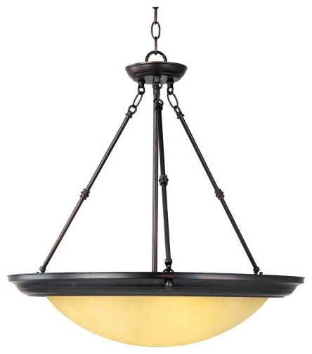 Maxim 15845WSOI Invert Bowl Pendant - 24W in. oil-rubbed bronze contemporary-ceiling-lighting