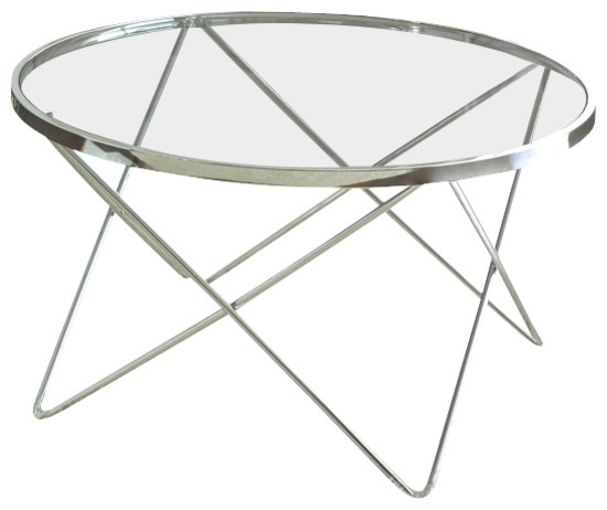 Coffee Table Silver Legs: Steve Silver Matrix 3-Piece Glass Top Coffee Table Set