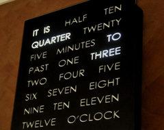 Black Clock contemporary-clocks
