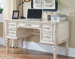 Hooker Shabby Chic Computer Desk with Optional TV Hutch traditional-desks-and-hutches