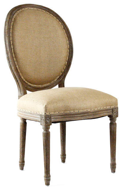 French country limed oak hemp oval back medallion dining for French farmhouse dining chairs