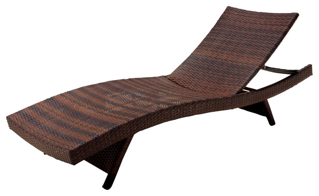 Lakeport Adjustable & Stacking Chaise Lounge Chair and Table Set Contem