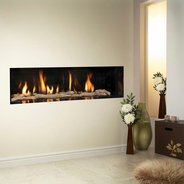 Verine Carmelo HE Gas Fireplace Modern Indoor Fireplaces Other Metro