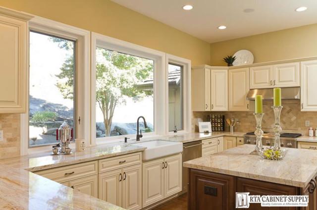 Ivory Glaze Kitchen 1 - Farmhouse - Kitchen Cabinetry ...