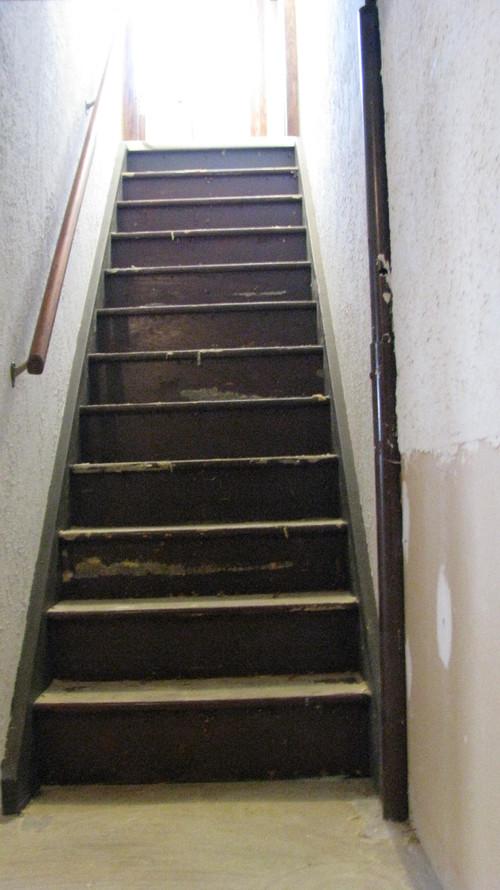 Steep Narrow Basement Stairs Refinish Basement Stairs