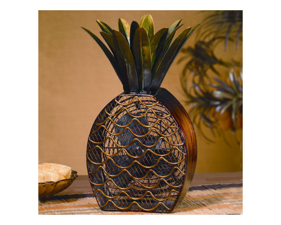 Grandin Road - Pineapple Fan - Ideal for use on desks, tabletops, countertops, vanities, and more. Efficiently circulates air to create a cooler, more refreshing environment. Durable polyresin body with metal fan blades and housing. Let the Pineapple Fan surround you with cooling, tropical breezes. More appealing than a regular tabletop fan, this fan brings relaxed island style to your home while keeping the heat of the day at bay. . . . 120 volt.