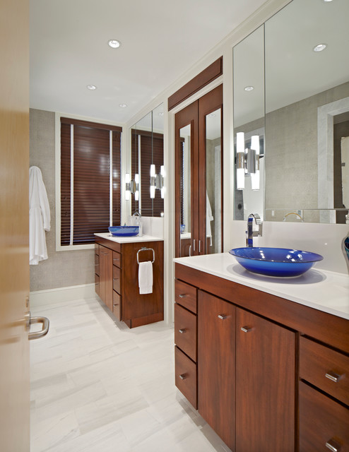 custom built master bath vanities contemporary
