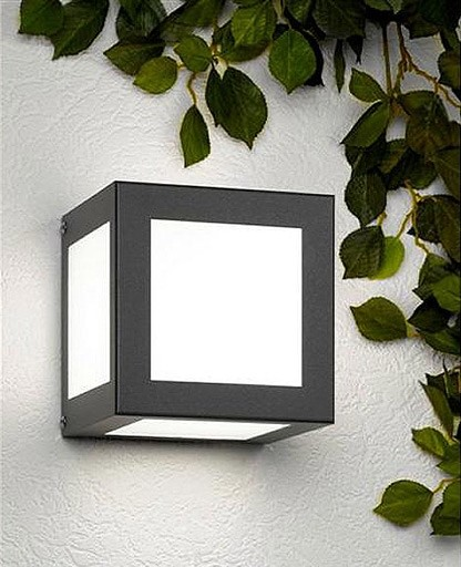 CMD - Aqua Cubo Anthracite outdoor wall sconce modern