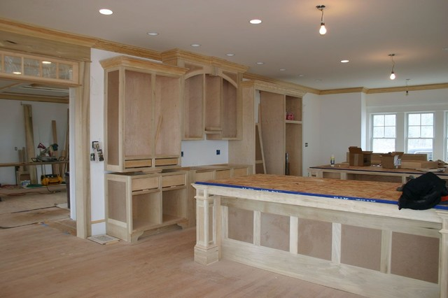 Harvard ma custom build frame to finish traditional for Custom built kitchen cabinets