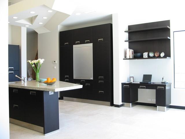 Modern Black Kitchen Modern Kitchen San Diego By