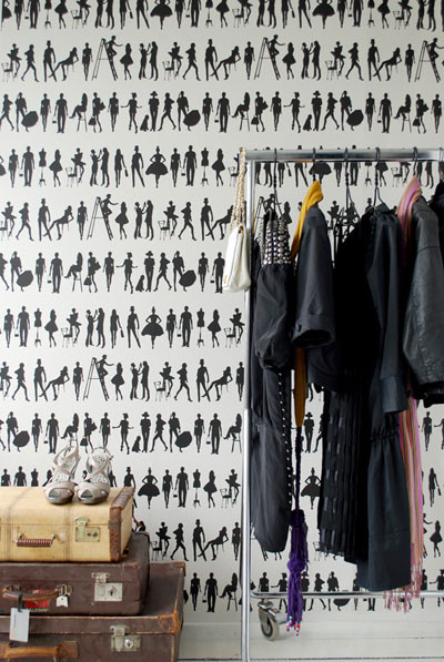 Fashion Wallpaper by Ferm Living eclectic wallpaper