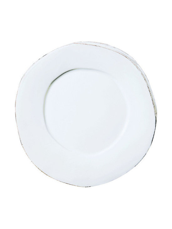 Vietri Lastra Dinner Plate - Rustic yet chic, this collection will make a clean and sophisticated table-setting. Mix with white Lastra for an eclectic look.