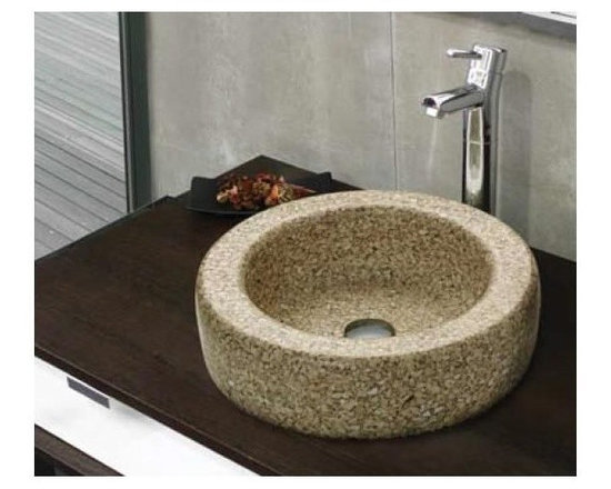 Cifial Techno B1 Recycled Ceramic Washbasin - Gently curved washbasin made from recycled ceramic encased in resin made by Cifial, available from UK Bathrooms