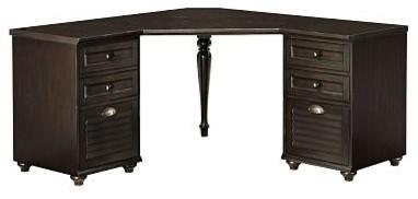 Whitney Corner Desk Set, 1 Desktop & 2 3-Drawer File ...