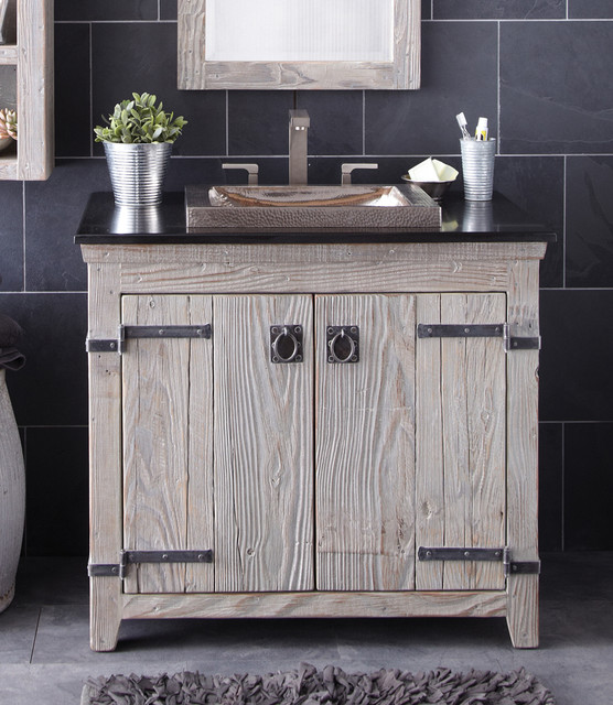 "Native Trails 36"" Americana Vanity in Driftwood Farmhouse Bathroom V"