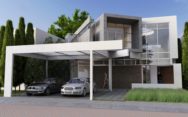 jurica residence 55 front elevation modern other metro by - Modern Elevations Of Houses