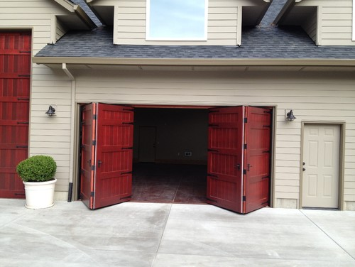 Bi Fold Garage Doors Waterloo Structures Storage Sheds