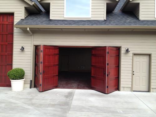 Bi Fold Garage Doors Waterloo Structures Storage Sheds