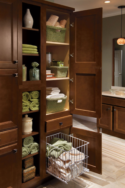 Homecrest Tall Linen Hamper Cabinets Traditional Bathroom Cabinets And Shelves Other Metro