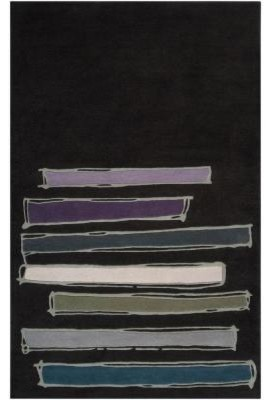 Accent Rug: Noah Packard Charcoal 2' x 3' contemporary-rugs