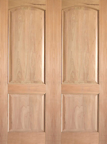 Rustic 2 interior tropical hardwood 2 panel arch top panel double door traditional interior for 2 panel arch top interior doors