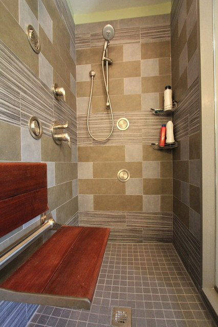 Lavish Bodyspray Shower Renovation eclectic bathroom