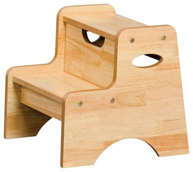 Kids Step Stool Two Step Stool In Natural KidKraft Furniture