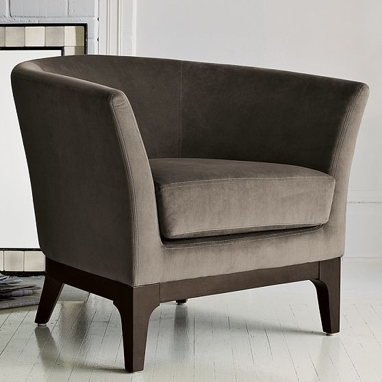 Tulip upholstered chair modern armchairs and accent for Contemporary armchair