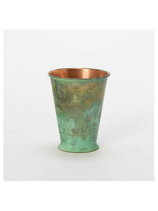 Verdigris Julep Vase -