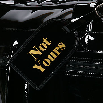 Not Yours Luggage Tag modern-artwork