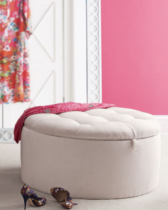 Lilly Pulitzer Home Rousseau Ottoman traditional ottomans and cubes