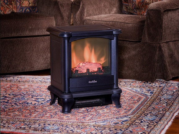 Duraflame 450 Black Electric Fireplace Stove Dfs 450 Traditional Freestanding Stoves