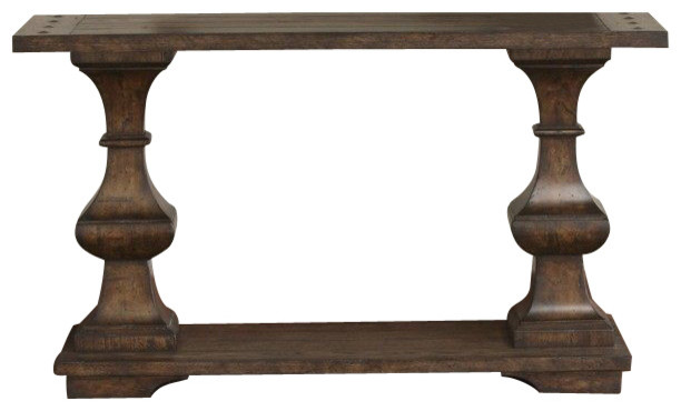 Liberty Furniture Sedona 50x16 Rectangular Sofa Table in Brown traditional-console-tables