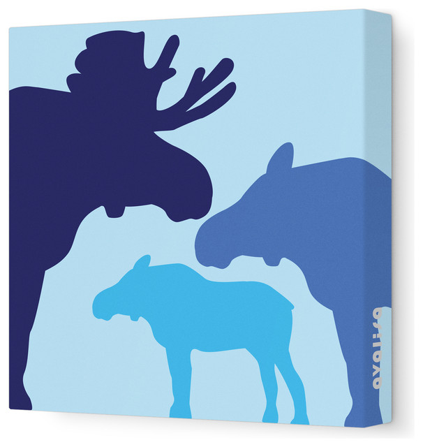 Animal - Moose Stretched Wall Art, 12
