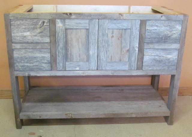 Reclaimed Barn Wood Bathroom   Traditional   Bathroom Vanities And .