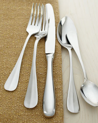 Wallace Silversmiths 45-Piece Baguette Flatware - traditional ...