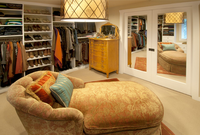 Master Bedroom and Dressing Room Remodel traditional-closet