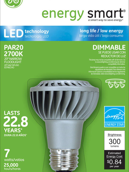 GE Energy Smart(R) Dimmable 30W Replacement (7W) PAR20 LED Light Bulb Warm White - GE Energy Smart(R) Dimmable 30W Replacement (7W) PAR20 LED Light Bulb Warm White (Energy Star (R) Qualified) - LED7DP20S/NFL/TP | http://www.agreensupply.com/ge-energy-smart-r-dimmable-30w-replacement-7w-par20-led-light-bulb-warm-white-energy-star-r-qualified-led7dp20s-nfl-tp/