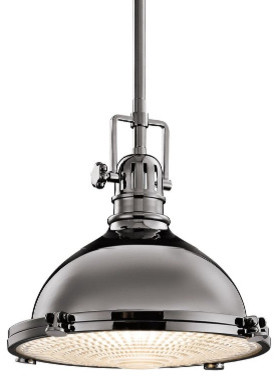 Kichler Industrial 12-Inch Retro Pendant with Fresnel Glass Diffuser eclectic pendant lighting