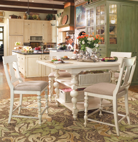 Paula Deen Gathering Height Kitchen Table In Linen