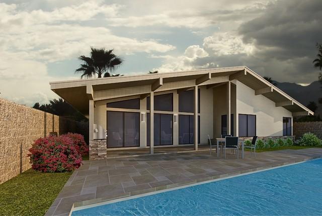 Carmel Model Home Presentation contemporary-exterior-elevation