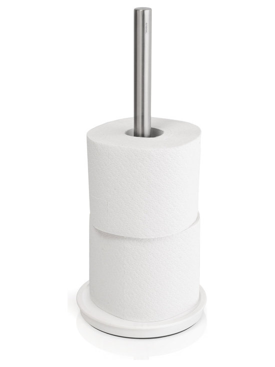 Sento Toilet Paper Organizer - Sento Toilet Paper Organizer is available with a Polished or Brushed stainless steel finish. Store up to 3 spare rolls