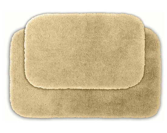 Sands Rug - Posh Plush Ecru Washable Bath Rug (Set of 2) - Revel in spa-like luxury every time you step into your bath with the Posh Plush collection of bath rugs. The amazingly soft, yet durable, nylon plush is machine washable, and each floor piece has a non-skid latex backing for safety.