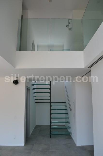 All glass stair, Switzerland modern-staircase
