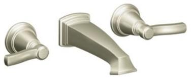 Moen Rothbury TS6204 Wallmount Bathroom Sink Faucet modern-bathroom-faucets