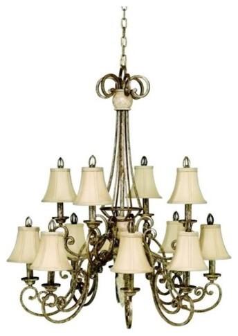 Kichler Lighting Kichler Venezia 1609BSG Chandelier - 36 in. - Burnished Silver traditional-chandeliers